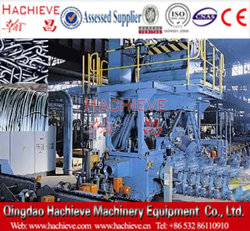 Anchor chain shot blasting and cleaning machine