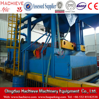 Roller pass through type shot blasting machine